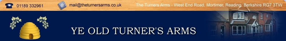 The Turners Arms, West End Road, Mortimer. 01189 332961